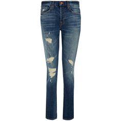 J Brand Caitland Blitz Mid-Rise Slim Boyfriend Jeans
