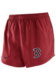 reputable site 42b2e 0a94c Boston Red Sox Shorts - Red Sox Nike Womens Red Dri-Fit Tempo Shorts http
