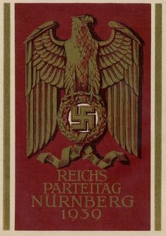 "Nazi postcard for the Nuremberg Rally, 1939: ""Reichs Parteitag Nürnberg 1939"""