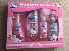 Dial hello kitty bath gift set new free shipping
