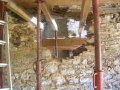 ouverture dans un mur en pierre | Forum Gros oeuvre Renovation D, Brickwork, Decorating Tips, Ladder Decor, Construction, Discussion, Diy, Home, Floor