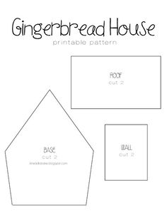 Gingerbread Recipe Printable House Template you can find a simple template to cut with a knife and a ruler here Here are the templates I made Theres two Gingerbread House Template Printable, Gingerbread House Patterns, Cool Gingerbread Houses, Gingerbread House Parties, Christmas Gingerbread House, Christmas Treats, Gingerbread House Cookie Recipe, Cardboard Gingerbread House, Gingerbread Village