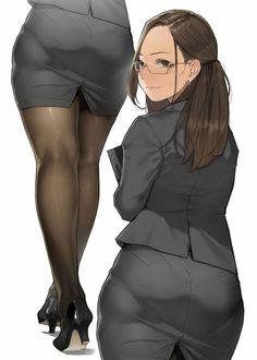 OL Stocking hot anime art kawaii cute girl