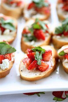 Celebrate strawberry season with this bruschetta recipe.
