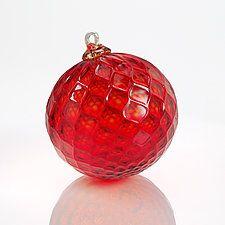 American Beauty by Furnace Urbini  (Art Glass Ornament)