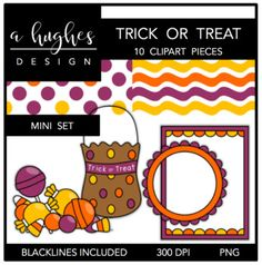 Trick or Treat Mini Clipart Bundle {A Hughes Design}