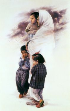 Morteza Katouzian (1943, Iranian)  The Mother And The Children