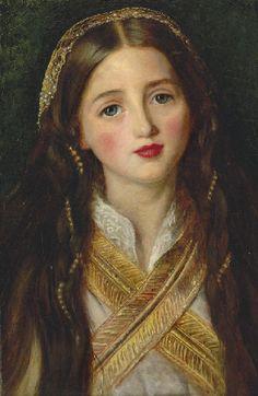 Alice Gray, John Everett Millais. English Pre-Raphaelite Painter (1829 - 1896)