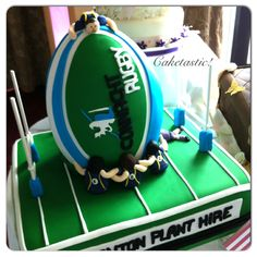 Rugby cake!! https://www.facebook.com/pages/Caketastic/163765000425745?ref=hl
