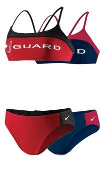 Nike Swim Women's Lifeguard Sport Top 2 Piece Swimsuit « Clothing Impulse