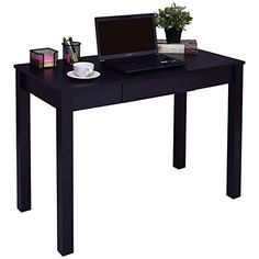 Tangkula Computer Desk with Drawer Home Office Compact Ef...