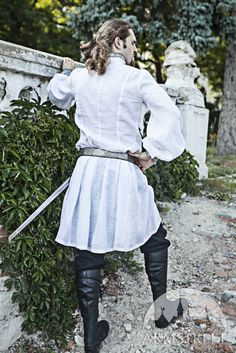 Wedding Medieval Mens Tunic with Brocade Accents by armstreet