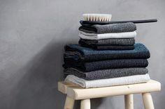 TERVA towels, washed linen-tencel-cotton. Innovation by Esko Hjelt, Lapuan Kankurit Oy. Made in Finland.
