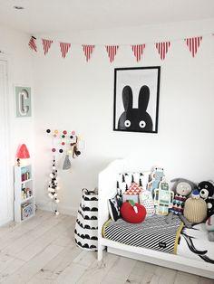 Ideas en blanco y negro para habitaciones infantiles