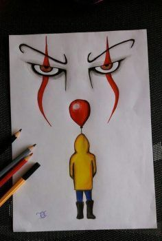 "Hobo Heart Creepypasta Poster Print""},""grid_title"":""Hobo Heart Creepypasta Poster Print ""Es"" – der Clown 🎪 ""Es"" – der Clown 🎪 – Sponsored Sponsored \""It\"" – the clown 🎪 \""It\"" – the clown 🎪 – the Scary Drawings, Art Drawings Sketches Simple, Pencil Art Drawings, Art Sketches, Drawing Ideas, Drawing Tips, Cool Simple Drawings, Scary Clown Drawing, Some Easy Drawings"