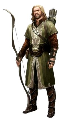 Male Human Ranger Archer - Pathfinder PFRPG DND D&D 3.5 5th ed d20 fantasy