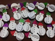 10 Easy Snowman Crafts for Kids and Adults ⋆ Christmas Crafts For Kids To Make, Paper Crafts For Kids, Christmas Activities, Preschool Crafts, Winter Christmas, Kids Christmas, Holiday Crafts, Diy And Crafts, Theme Noel