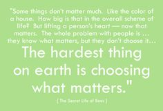 Quote From The Secret Life Of Bees. Loved This Book. Love The Quote.