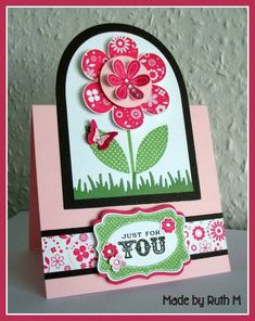 Cheery Just For You Tent Topper Card by FubsyRuth - Cards and Paper Crafts at Splitcoaststampers