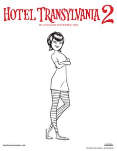 Hotel transylvania 2 colouring pages mavis colouring sheet, perfect for Halloween Hotel Transylvania Movie, Colouring Pages, Coloring Sheets, Olaf Summer Party, Dracula, Plotter Silhouette Cameo, Free Hotel, Animation, Hotel Transylvania