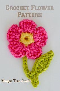 Crochet Flower pattern by Lilia Garashchenko