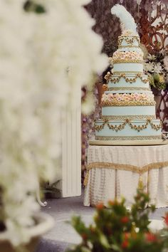 An 18th Century & Marie Antoniette Inspired Indonesian Wedding: Cindy & Sebastian - How amazing is that cake?? Seriously beautiful