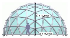 SimplyDifferently.org: Geodesic Dome Notes & Calculator Great Buildings And Structures, Modern Buildings, Dome Structure, Chalet Design, Dubai Skyscraper, Dome House, Geodesic Dome, My Cup Of Tea, Calculator