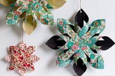 adornos de navidad estrellas de papel fáciles Adornos de Navidad: estrellas de papel fáciles