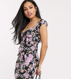 Buy Fashion Union Petite structured mini dress with deep plunge at ASOS. Get the latest trends with ASOS now. Midi Shirt Dress, Knit Dress, Check Pinafore Dress, Fashion Forms, Spring Fashion Outfits, Long Sleeve Mini Dress, Petite Dresses, Cold Shoulder Dress, Asos