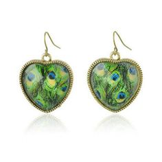 Peacock earrings Peacock Butterfly, Peacock Tail, Peacock Print, Peacock Jewelry, Peacock Earrings, Peacock Decor, Heart Frame, Colorful Feathers, Beautiful Gifts