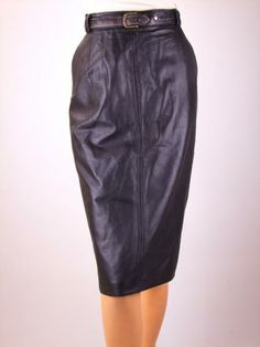 Falda de cuero vintage, 80´s, Vintage leather skirt, Jupe retro en cuir