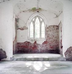 old church windows fascinate me. All windows, actually, but church windows especially. Old Buildings, Abandoned Buildings, Abandoned Places, Church Windows, Windows And Doors, Gothic Windows, Cathedral Windows, Tall Windows, Antique Windows