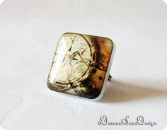 Ring Steampunk Gift idea for her under 20 30 50 by SunDevonaDesign, $16.00