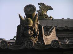Onigawara Japanese roof tile #decorative beast http://weathertightroofinginc.com #rooferhemet #roofrepairhemet