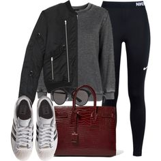 Sin título #11921 by vany-alvarado on Polyvore featuring Topshop, Yves Saint Laurent, NIKE, adidas Originals and Christian Dior