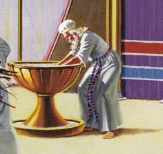 The Bronze Laver was used for purification of the priests working in the Tabernacle of Moses.