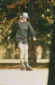 Princess Diana rollerblading