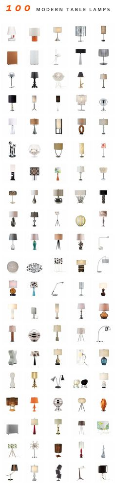 100 Modern Table Lamps #lighting #tablelamps