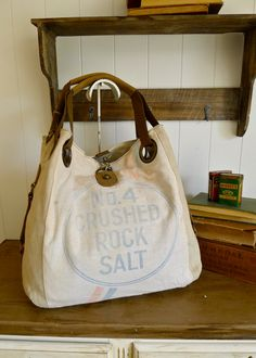No 4 Crushed Rock Salt  Akron Ohio Vintage Seed by selinavaughan, $135.00