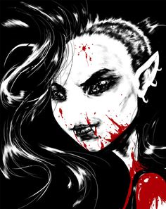 Marceline the Vampire Queen (drawn Sin City style by John Suarez)