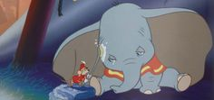 Dumbo - he's so sad! I can't remember how many times I've cried with this scene...