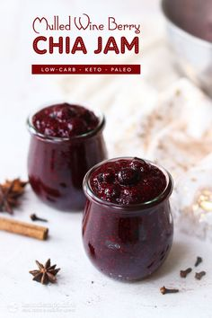 This sugar-free mulled wine berry chia jam is a great addition to your festive menu. Low Carb Keto, Low Carb Recipes, Appetizer Recipes, Dessert Recipes, Breakfast Recipes, Appetizers, Wine Jelly, Ketogenic Desserts, Ketogenic Breakfast
