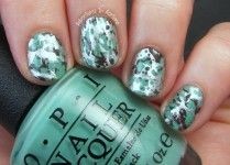 OPI Nordic Water Spotted Nail Art!
