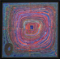 """Friedensreich Hundertwasser, 224 Der große Weg, 1955, Belvedere, Vienna, Ausstellungsansicht """"Hundertwasser, Japan und die Avantgarde"""", Belvedere, Orangerie, 6.3.-30.6.2013, Foto: Alexandra Matzner."""