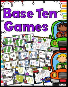 Base Ten Games - 3 Base Ten Games - 90 Sets of Base Ten Task Cards!Great games to help students learn, review, and practice their understanding of base ten concepts and place value.So many different ways to play in order for you to provide differentiated instruction within your classroom.