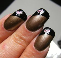 french tip nails | ... 14 Karats' with Nailene Black French Tip Pen & Fing'rs Nail Stickers