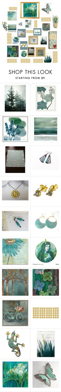 """""""My Etsy store"""" by therusticpelican ❤ liked on Polyvore featuring Pottery Barn, Leftbank Art, Trademark Fine Art, Home Decorators Collection, Green Leaf Art, Brewster Home Fashions, Pier 1 Imports, modern, contemporary and vintage"""