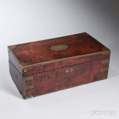 Maple and Brass Lap Desk Belonging to U.S.S. Constitution Sailor Henry Worthington - Price Estimate: $2500 - $3500