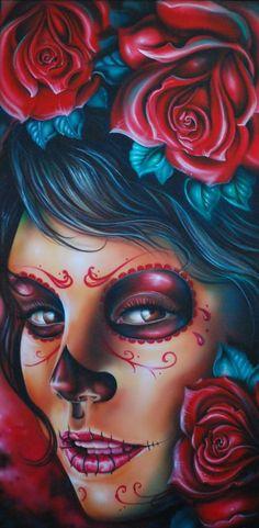 Tattoo Skull Girl