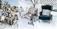 Морозная свежесть, искрящийся белый снег и сказочные деревья вдохновили нас на съемку в стиле мультфильма «Холодное сердце», и мы в зимнем саду создали интерьеры, какими они могли бы быть в замке у Эльзы.